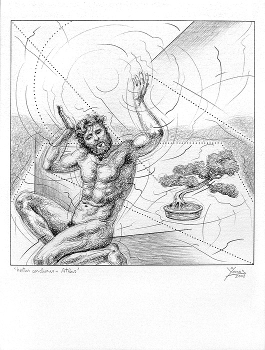 the gallery for gt atlas greek god drawing